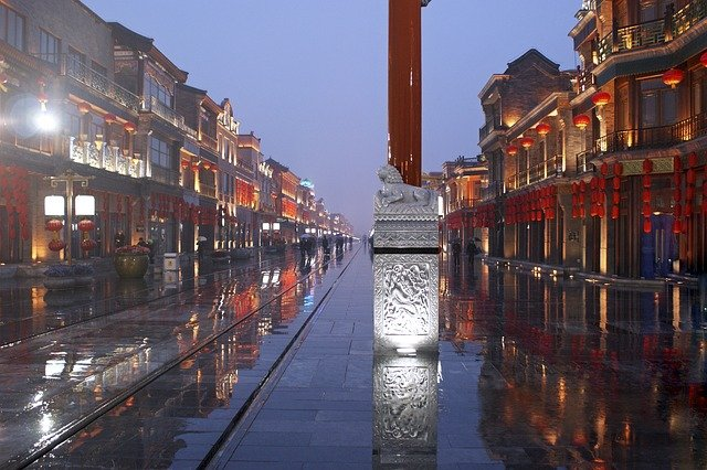 čína silnice déšť