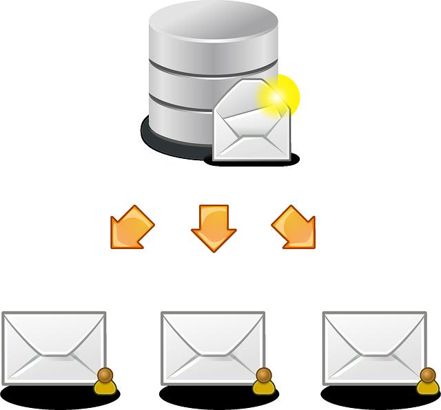 rozeslání emailů